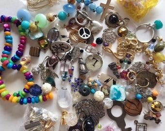 Jewelry Craft Destash-60+ Pieces of Vintage and Newer Findings-Altered Art-lot 5