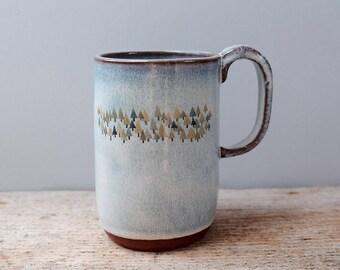 Tall Blue Forest Mug