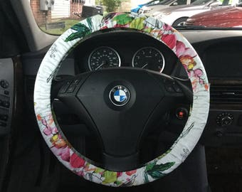Big Floral Steering Wheel Cover