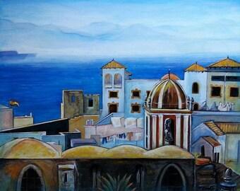 Wall Art - Art Print - Spain Art - On the Horizon - Tarifa, Spain - Leah reynolds