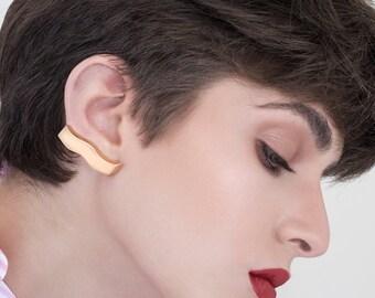 Lucile Earrings, gold post earrings, gold stud earrings, geometric gold stud earrings, gold Earrings, minimalist gold earrings