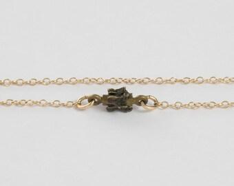 Bone Necklace - Vertebrae Jewelry - Boho Jewelry - Tiny Necklace - Biology Gifts - Chiropractor - Science Jewelry - Anatomy Jewelry - Spine
