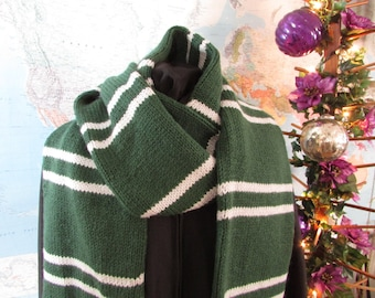 Hand Knit Harry Wizard Inspired House scarf,