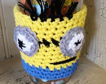 Mug Cozy - Coffee Sleeze, Mug Sleeve, Mug Warmer, Tea Warmer, Minion Cup Cover, Minion Mug Sleeve