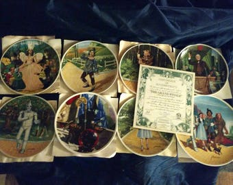 Vintage Wizard of Oz Knowles Plates 1979 total 8 Plates Collectibles VGC