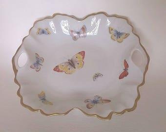 Vintage Limoges France Butterfly Candy or Trinket Dish