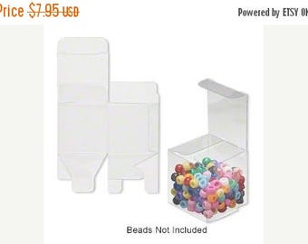 New Years Sale 20 Pack Clear Plastic Tuck Top Style Packaging Retail Gift Boxes 2X2X2 Inch Size