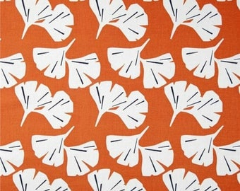 Gingko Monarch - Orange and White - Premier Prints Fabric - Yardage