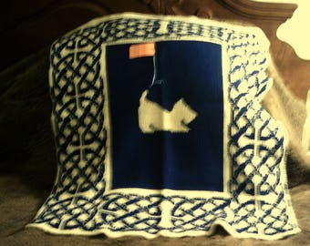 """West Highland White Terrier """"Westie"""" wall hanging, lap robe, or small throw"""
