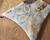 Large Tapestry Zipper Top Pocket With Adjudtabl Strap