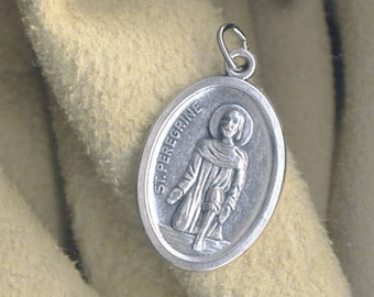 2 St Peregrine Medals - Patron Saint of Cancer Sufferers and Cancer Survivors