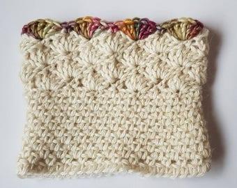 Bootcuffs crocheted in British Alpaca