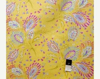 CLEARANCE SALE Dena Designs LIDF008 Sunshine Heather Yellow Linen Fabric 1 Yd