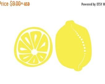 50% Off Summer Sale - Lemons Kitchen art - 5x7 Print - yellow - Home Decor
