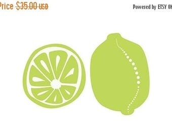 50% Off Summer Sale - Limes - 12x18