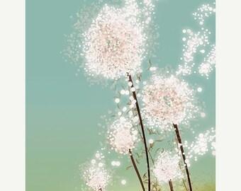 50% Off Summer Sale - Dandelion Art - Perennial Moment - 8x10 Print