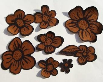Iron On Fabric Appliques, 6 Piece Set