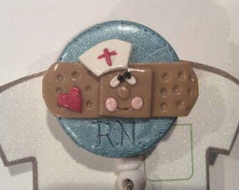 Polymer Clay Retractable Badge Holder