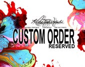 RESERVED COMISSION -   Original Custom ABSTRACT Painting by Destiny Womack - Reserved