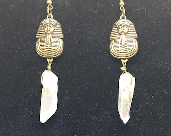 Pharaoh Crystal Dangle Earrings
