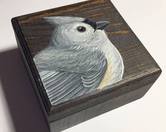 Tufted Titmouse Keepsake Box