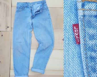 "Vintage Levi's 550 Jeans  //  Vtg 90s Made in the USA Distressed Dirty Wash Light Wash Denim Jeans  //  31"" waist"
