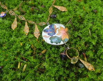 cloisonne garden necklace