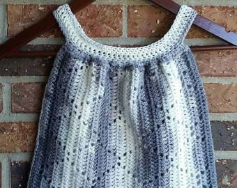 Toddler Dress, Crcohet Diamond Pattern Dress, Ready to Ship