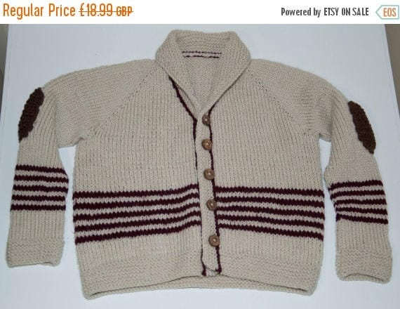 Christmas In July Handknitted Boys Cardigan/Jacket to fit a 4 Year Old.
