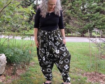 Boheiman Harem Pants, Hammer Pants, Sufi Pants, Low Crotch Pants, Comfy Pants, Aladdin Pants
