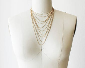 1970s Multichain Necklace