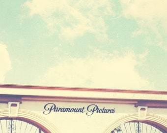 SALE Los Angeles photography, Paramount Pictures photograph, Hollywood California, film studio, cinema lovers, movies, gates, i love LA, act