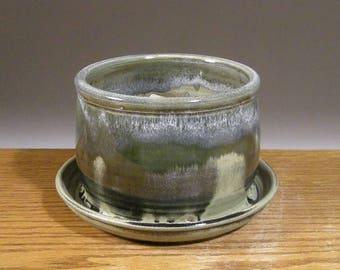 Stoneware Planter , Planter , Small Planter , Handmade , Pottery Planter , by Jon Whitney Pottery
