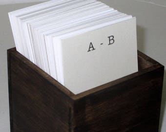 Address Card File...Vintage Style..Wedding Guest Book Alternative...Handcrafted...Organizer...Vertical
