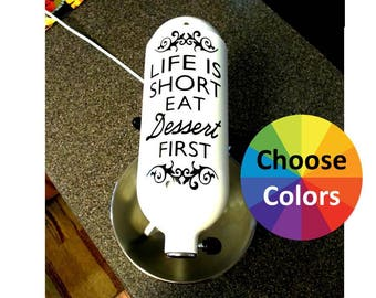Vinyl Decal For Kitchenaid Stand Mixer Appliance Decal Life Is Short Eat Dessert First Choose From 25 Colors