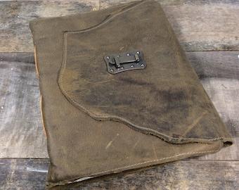 Heirloom Olive Green Leather Journal - EX LG