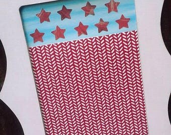 Red, White, and Blue American Flags Fourth of July Wall Hanging