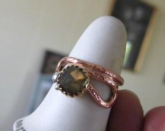Copper and Labradorite Ring