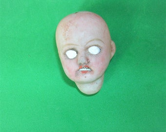 Antique German Doll Head Antique Frozen Charlotte German Doll Head Doll Parts Altered Art Jewelry Making Doll Head Creepy