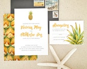 Custom Pineapple-theme Invitations