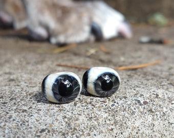 Gray Glass Eye Beads