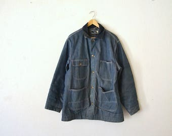 1970's Sears Blanket Lined Denim Chore/Barn Coat