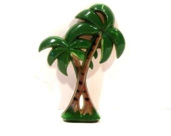 Plastic Palm Tree Pin