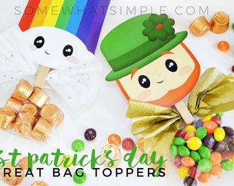 St. Patricks Day Treat Bag Toppers