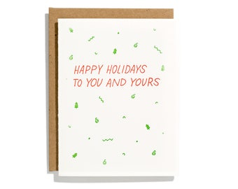 Holiday Confetti - Letterpress Holiday Card - CH233