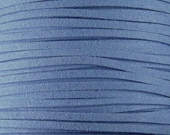 Faux Suede Cord By the Yard Blue 3mm thick (1013cor03m1-3)