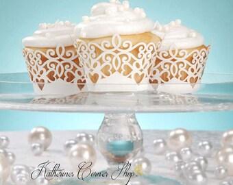 White Lace Cupcake Wraps