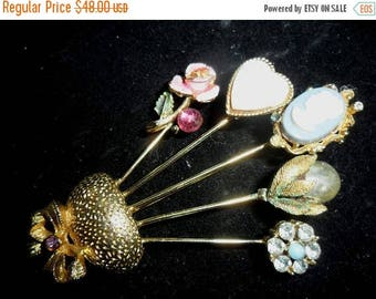 36% OFF Closet Cleaning BROOCH - Vintage Pin Romantic 1950's Whimiscal Estate Sale Treasure -