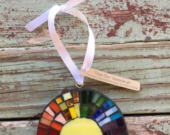 Mosaic Rainbow Ornament