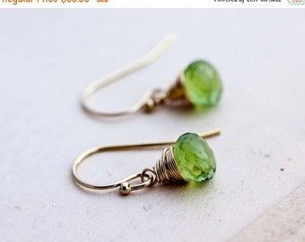 Peridot Earrings, August Birthstone, Peridot Jewelry, Lime Green, 14K Gold Filled Jewelry, Drop Earrings, Dangle Earrings, PoleStar